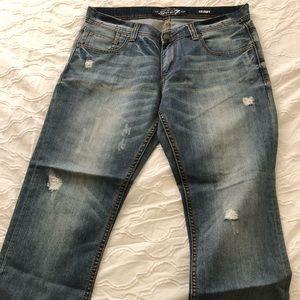 Seven7 Brand Blue Jeans 34x30 Skinny/Straight